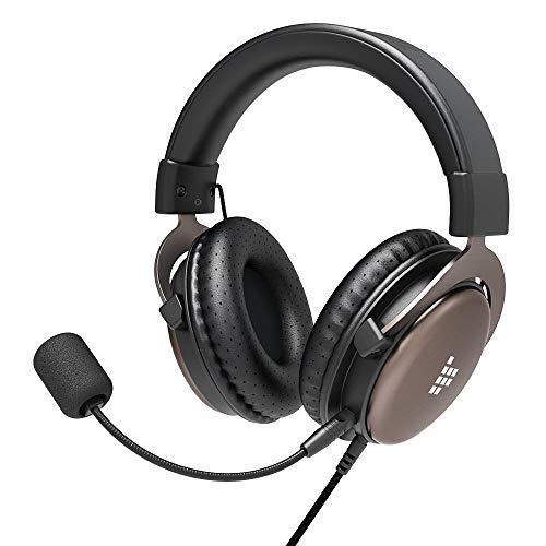Tronsmart PS4 Headset für Xbox One PC, Stereo-Gaming-Kopfhörer mit Geräuschunterdrückung und Inline-Steuerung, Over-Ear Gaming Headset, Stereo Sound Mikrofon für Xbox 1/PS4/Mac schwarz