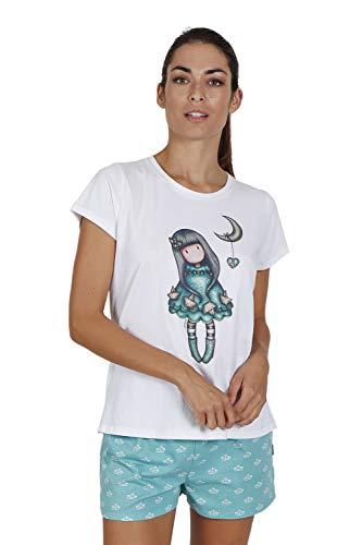 SANTORO Pijama de Manga Corta Into The Ocean para Mujer