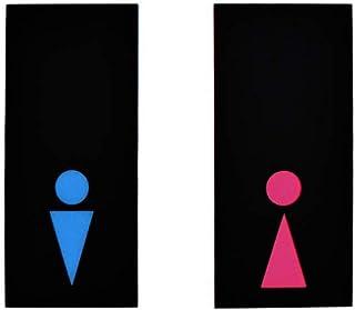 Mr & Mrs ensemble de deux enseignes de salle de bain - enseignes de toilettes modernes - enseignes de WC drôles - hommes/f...
