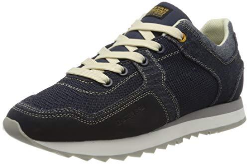G-STAR RAW Calow Denim II Sneakers voor heren, Blauw Dk Saru Blue B054 6486, 45 EU