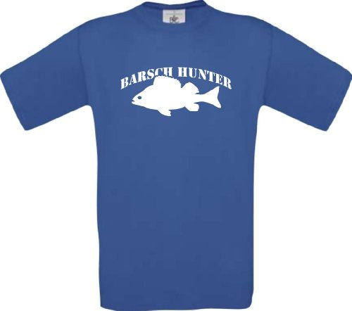 Tee-Shirt Pêche Pêcher Fischer Perche Hunter Kultstyle S-XXL - Royal, XXL