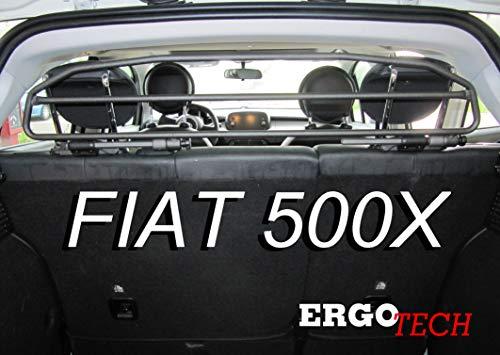 ERGOTECH Divisorio Griglia Rete Divisoria per Fiat 500X, RDA65HBG-2HXXS, per Trasporto Cani e Bagagli