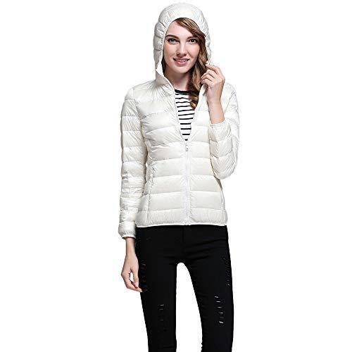 NUSGEAR Daunenjacke Damen Mantel Winter Jacke Ultraleicht Steppjacke Parka Outwear Daunenmantel Coat Warme Steppmantel Mode leichte einfarbige Langarm-Kapuzenjacke mit Reißverschluss