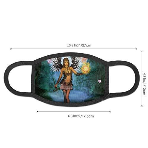 N/P Beautiful Fairy with Wings máscara polvo máscaras son suaves y reutilizables y adecuado para hombres y mujeres, la moto conducción personalized