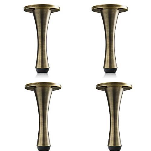 ASDWS 4 patas de mesa de cobre puro para muebles de mesa de 300 kg de carga de gabinete de TV para pies, patas de sofá, con almohadillas antideslizantes para pies, altura ajustable, B, 21 cm