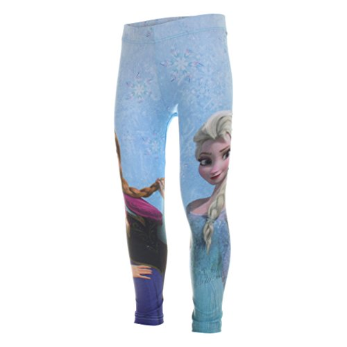 Disney Disney Mädchen Frozen Hose, Blau (Blue), 104 (Herstellergröße:3-4 Years)