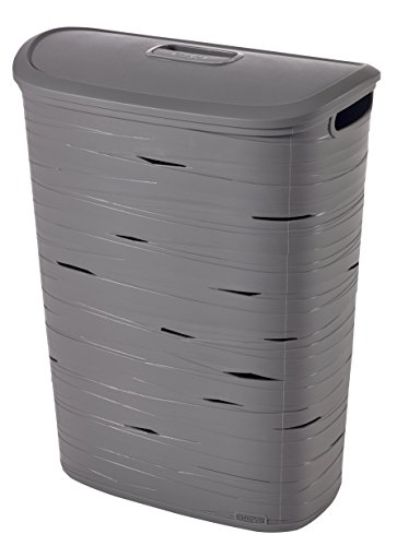Curver | Banddoos 47 l met deksel, grijs, Laundry Hampers & Baskets, 45,7 x 27,3 x 59 cm