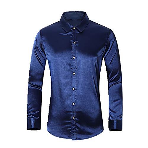 N\P Camisa de manga larga para hombre en otoño. marine XL