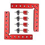 EDIONS - Abrazadera de ángulo de 90 grados cuadrada, abrazadera de carpintero para trabajo de madera, pinzas de ángulo recto para marco, cajas, armarios (140 mm x 140 mm)