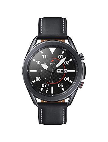 Samsung - Galaxy Watch3 Smartwatch 45mm Stainless - Mystic Blk -SM-R845UZKAXAR- (Renewed)