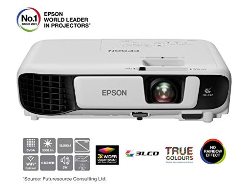 Epson EB-S41 3LCD, 3300 Lumens, 300 Inch Display, SVGA Projector - White