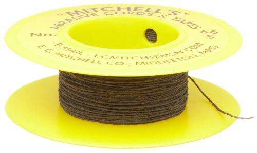 Mitchell Abrasives - 66S-25 66-S Round Abrasive Cord, Silicon Carbide 280 Grit .012' Diameter x 25 Feet