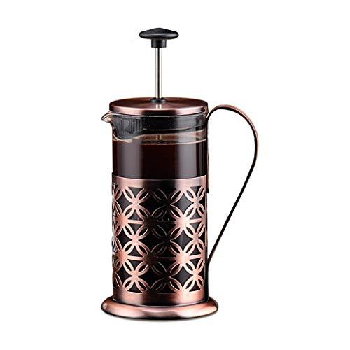 RWX Pote De Café De Vidrio Multifuncional, Olla De Prensa De Punzonado A Mano, para Café Y Tetero, 350 Ml / 600ml (Color : 350ml)