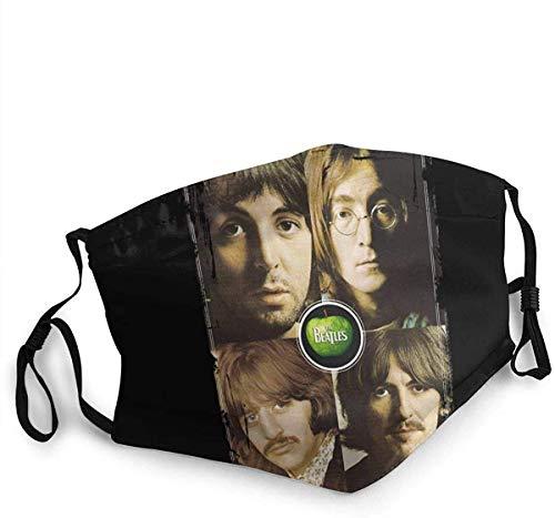 John Lennon Unique Face Shield Breathable Face Bandana Half face Balaclava Keep Warmer Black