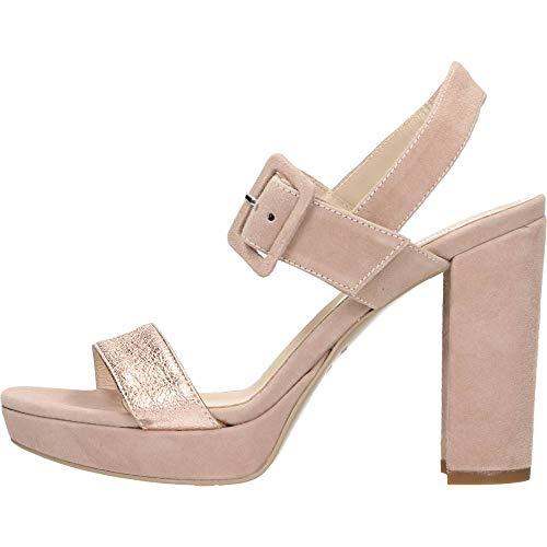 Sandalo da Donna NeroGiardini in Camoscio Phard E012200D. Scarpa dal Design Raffinato. Collezione Primavera Estate 2020. EU 36
