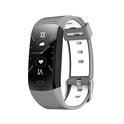 libelyef Monitor de fitness, contador de pasos, reloj inteligente impermeable IP67 con monitor de ritmo cardíaco y sueño, recordatorio sedentario, podómetro caminar para hombres y mujeres