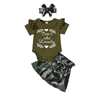Amazon Promo Code Girls Mamas Girl Camo Ruffle Romper Tops Camouflage 01072021072028