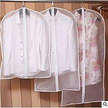 Clothes Covers Clothes Dust Cover Hanging Garment Dress Clothes Suit Coat Home Storage Bag Pouch Case Organizer Wardrobe H...