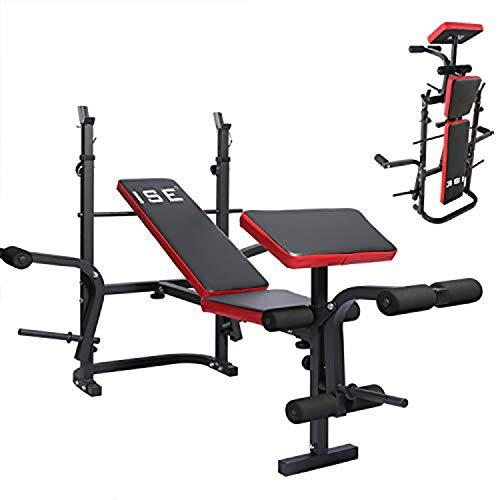ISE Multifunctional Foldable Training Bench Adjustable Weighted Bench...