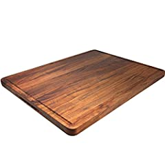 American Black Walnut, Beautiful Color And Grain – wooden cutting boards sustainably sourced from the highest-grade (FAS) premium selection, coming in its unique and natural color and grain. Pro chefs prize walnut for its durability, stability and be...