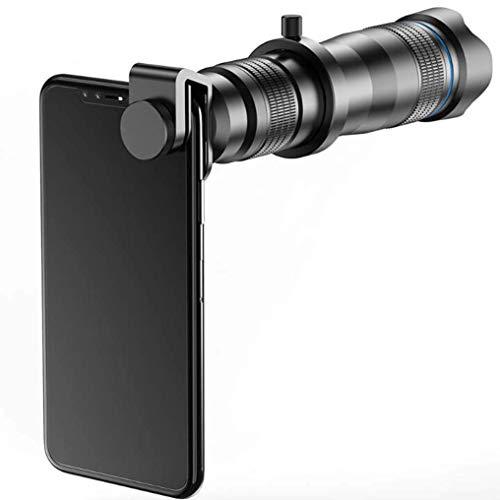 LJJOO Monocular Lente del teléfono móvil, Todo el Metal 36X Concierto Alta Lista Tubo Exterior Telescopio Universal telefoto Lente del teléfono móvil Webcams y telefonía VoIP