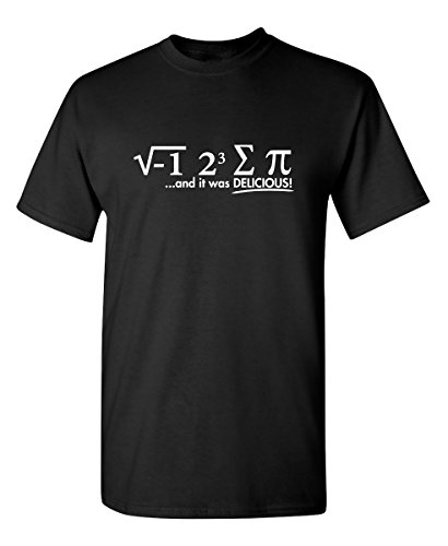 I Ate Some Pi Graphic Novelty Sarcastic Funny T Shirt XL Black