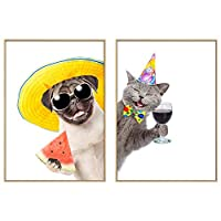 動物のアートの肖像画キャンバスウォールアートホームデコレーションデコレーションギフトブラックホワイトのためのキャンバスアニマルザ・ピクチャーの絵画の写真を印刷、57 * 80センチメートル SHUSHI (Size : 50cm*70cm)