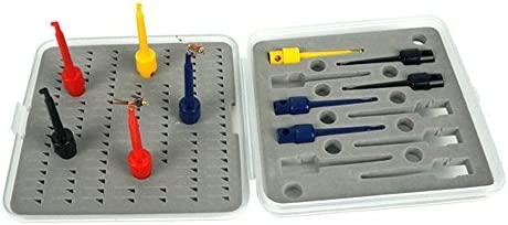 Yellow ! 10 For displaying or Drying Flies .. Fly Tying Clips