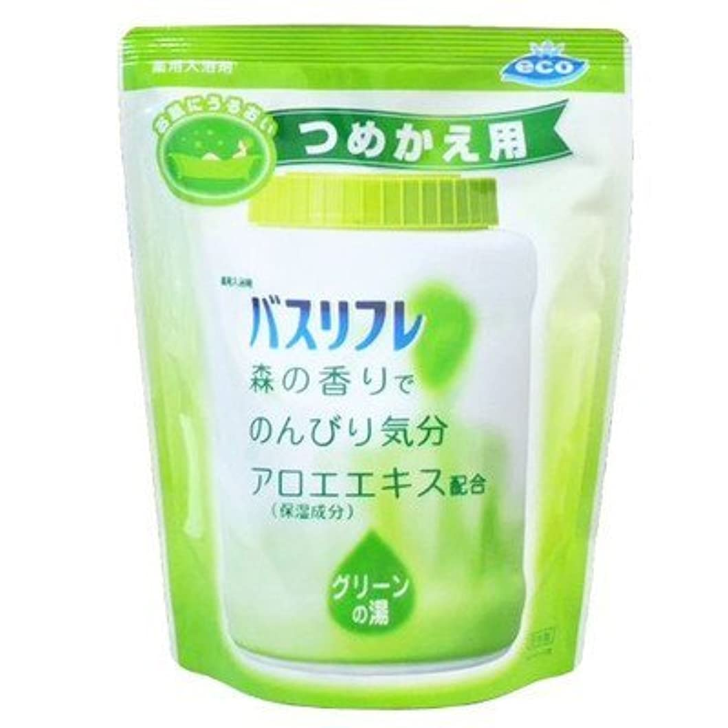 ステレオタイプ窒息させる許す薬用入浴剤 バスリフレ グリーンの湯 つめかえ用 540g 森の香り (ライオンケミカル) Japan