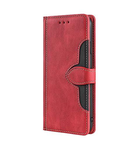 "VGANA Funda para Sony Xperia 10 III Lite, Carcasa con Tapa Tipo Billetera con Tapa Tipo Folio, Compatible con Funda para Teléfono ""Sony Xperia 10 III Lite"" (Rojo )"
