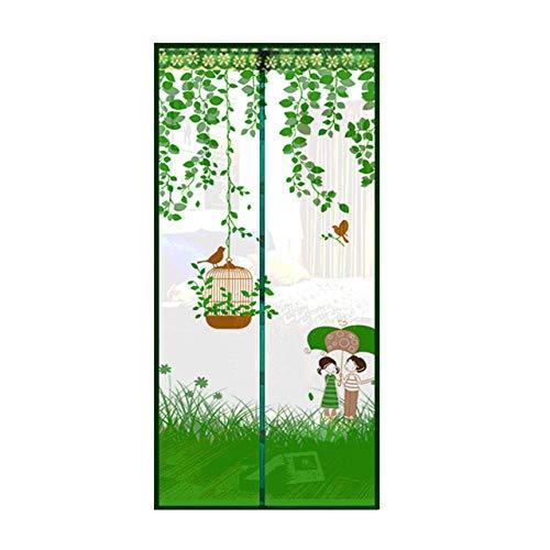 PXN Paraguas con Forma de Jaula de pájaros, imán de Verano, mosquitera para Puerta, mosquitera, mosquitera para Puerta para Mantener alejados a los Insectos, Verde