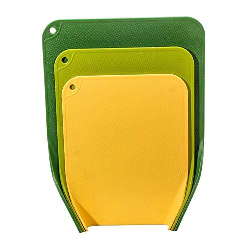 LOVIVER Tablas de Cortar de plástico para cocinar, Juego de 3 Tablas de Cortar Profesionales, Hechas de Tablas de Cortar de plástico Gruesas y no porosas