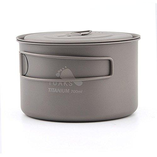 Toaks 900 ml ultraléger avec poignées résistant à la chaleur pliable portable Pot de titane avec un sac de rangement en maille