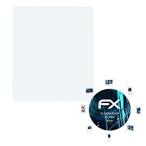 atFoliX Schutzfolie kompatibel mit Fitbit Blaze Panzerfolie, ultraklare & stoßdämpfende FX Folie (3X)