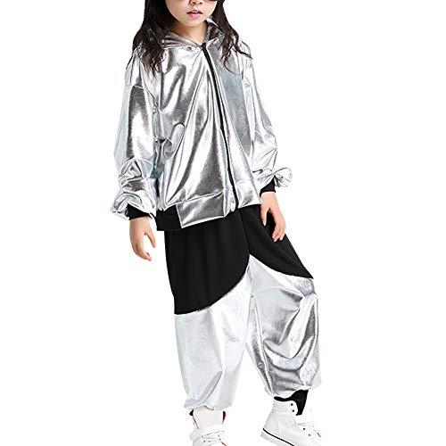 Gtagain Kostüm Hip Hop Dancewear Mädchen - Tanzsport Jungen Pailletten Dance Ballsaal Modern Jazz Kleidung Top Hose Tanzbekleidung Kostüme Sets