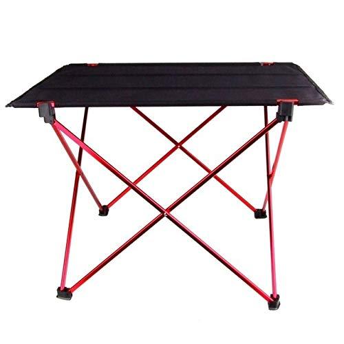 Yaduokj Klapptisch Beweglicher Faltbare Klapptisch Schreibtisch Camping im Freien Picknick-Aluminiumlegierung Ultra-Light Folding Schreibtisch (Color : Red)