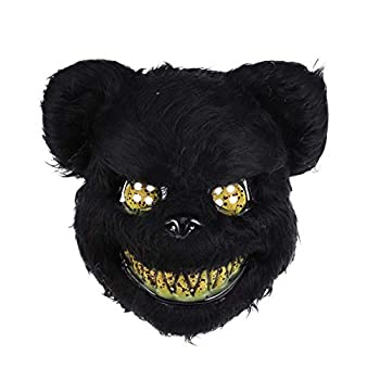 Holibanna Bloody Bear Mask Halloween Cosplay Costume Prop Dress-up Accessory for Masquerade Party Performance Black Size 1