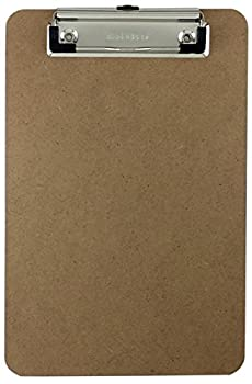 Trade Quest Memo Size 6   x 9   Clipboard Low Profile Clip Hardboard  Pack of 1