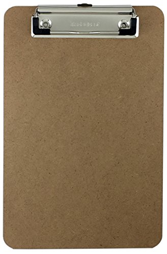 Trade Quest Memo Size 6'' x 9'' Clipboard Low Profile Clip Hardboard (Pack of 1)