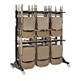 Safco Products Two-Tier Folding Chair Cart, 4199, Commercial Grade Steel, 84 Chair Capacity