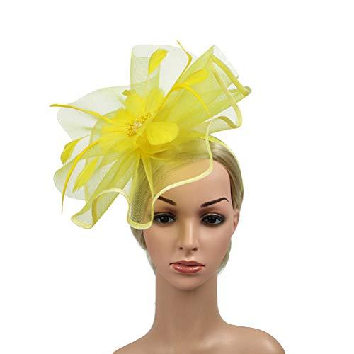 Lurrose Sombrero de fascinador de la boda sombrero de la flor de...