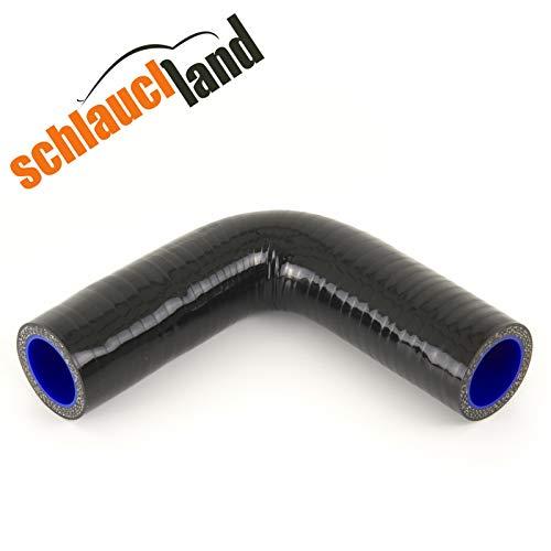 Silikonschlauch 90° Innendurchmesser 45mm schwarz ***