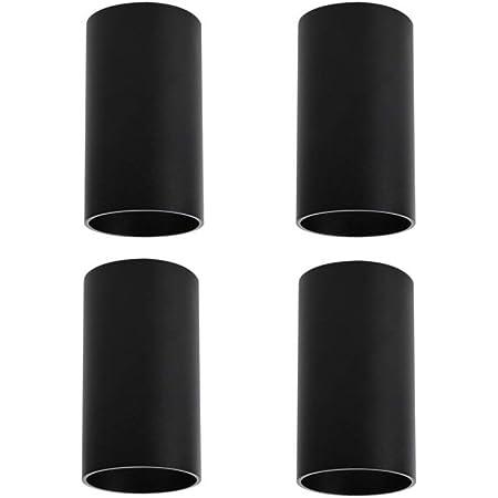 Klighten 4 Pcs Spot Plafond Noir en Saillie, Douille GU10, Ampoule non Incluse, 56 x 100 mm, éclairage plafond Rond Spot de Plafond en Aluminium Moderne pour Salon, salle à manger, Couloir
