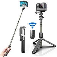 LAMJAD Selfie Stick Tripod with 32 Inch Lightweight Selfie Stick