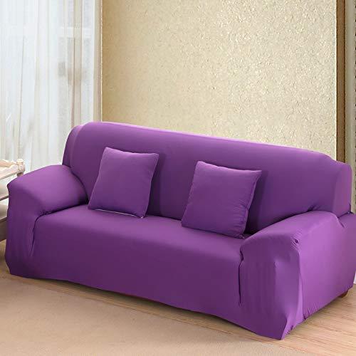 Funda de sofá de Color sólido para Sala de Estar Blanca como la Nieve, Funda de sofá elástica a Prueba de Polvo, Funda de sofá, Toalla elástica para sofá A23, 3 plazas