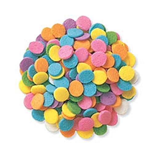 Edible Confetti Sprinkles Cake Cookie Cupcake Quins Pastel Sequin 8 Ounces
