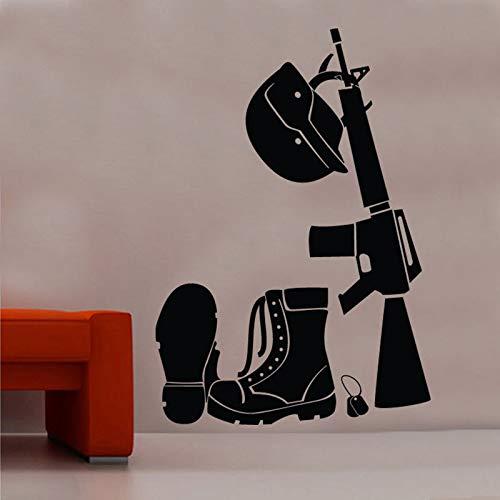 Tianpengyuanshuai Soldat Anzug wandaufkleber Dekoration Wohnzimmer abnehmbare Vinyl wandtattoo 63x90 cm