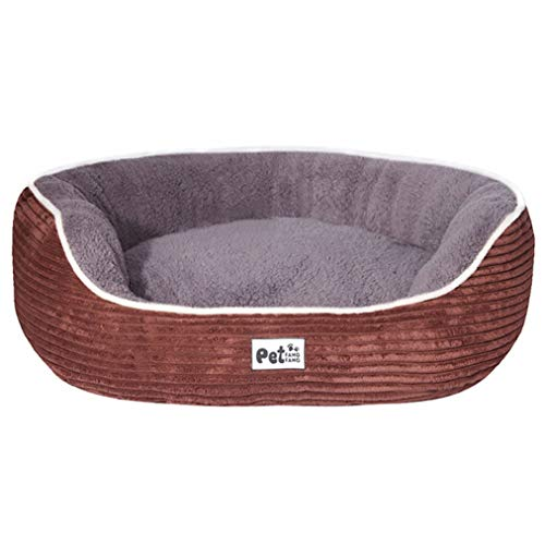Ultra-Soft Corduroy Couch Bed for Puppy Cat Warm Faux Plush Pet Sofa Lounger Bed Breathable Anti-Slip Dog Kennel