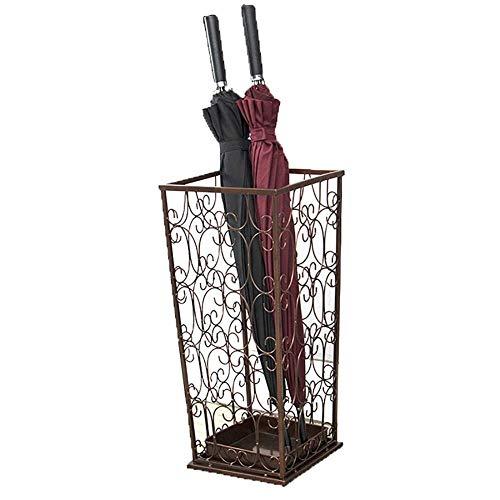 Unknow Paragüero Cuadrado de Gran Capacidad, paragüero Multifuncional para Flor, Tienda de Ropa de Restaurante (Color: Bronce)