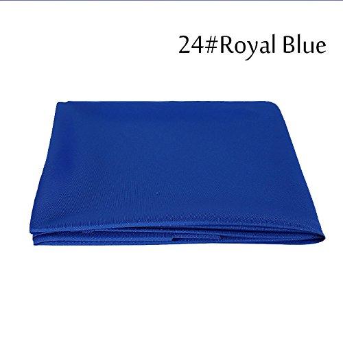 BLUELSS 1PC Nappe Blanche Polyester Gros Banquet de Mariage de Décoration de l'hôtel Round Table Cloth Rectagular,Linge de Table,Bleu Royal 180cm Long,Chine